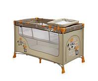 Детская кровать-манеж NANNY 2 LAYER BEIGE SAFARI TOURS (2 уровня, сумка) ТМ Lorelli (Bertoni) Разноцветный NANNY 2 LAYER