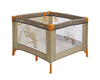 Детская кровать-манеж PLAY STATION BEIGE SAFARI TOURS (сумка, кольца)  ТМ Lorelli (Bertoni) Разноцветный PLAY STATION