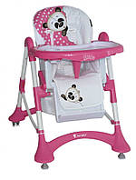 Детский стульчик для кормления ELITE PINK PANDA (ремни безопасности, чехол) ТМ Lorelli/Bertoni Разноцветный 10100141