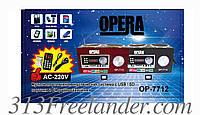 Радиоприемник — портативная акустика Opera OP-7712. Только ОПТОМ! В наличии!Лучшая цена!
