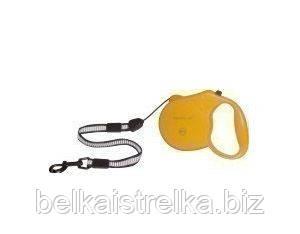 Рулетка Collar control со светоотражающей лентой желтая , 20 кг, 5 м 81114