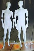 Мужской манекен с шарниром К-22 серебро