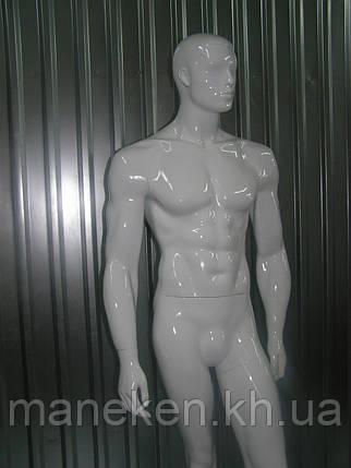 Мужской манекен К36-4 белый, фото 2