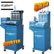 Установка для диагностики и чистки форсунок (6 форсунок, тележка, ультразвуковая ванна G.I.Kraft GI19112, фото 2