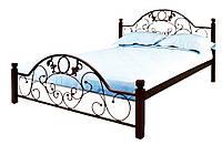 """Металлическая двуспальная кровать """"Франческа"""" на деревянных ножках Металл-Дизайн"""