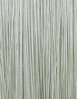 Тюль-штора нитки однотонные цвета в ассортименте. 3х3 м.