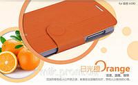 Чехол-книжка MOFI для телефона Lenovo A390 оранжевый