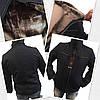 Мужская куртка классика на меху черная