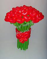Букет сердец к Дню Святого Валентина из воздушных шаров