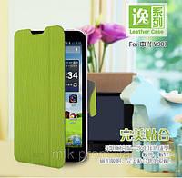 Чехол-книжка MOFI для телефона ZTE V987\V967S зелёный