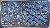 Резиновый коврик с тканевыми вставками 40 см х 70 см