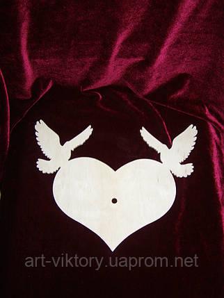 Сердце с голубями, фото 2