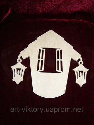 Ключница домик с фонариками, фото 2