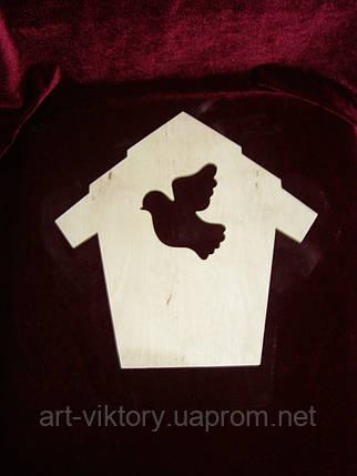 Ключница домик с голубем, фото 2