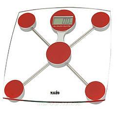 Напольные весы Magio mg 301 до 150 кг белые с красным