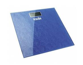 Весы напольные Magio mg 307 до 180 кг синие в цветочек