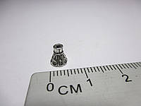 Обіймачі для біжетерії малі Конус, литий метал колір античне срібло10 шт