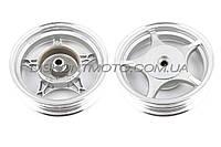 Диск колеса 2.5 * 10 (задний, барабан ,легкосплавный ,19 шлицов) ZY