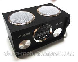 Акустика Atlanfa AT-8974 MP3/SD/USB/FM/, black, фото 2