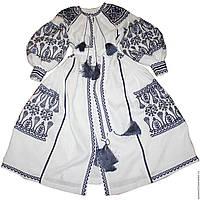 Заготовка для вишивки жіночого плаття-вишиванки під бісер (БС-109с)