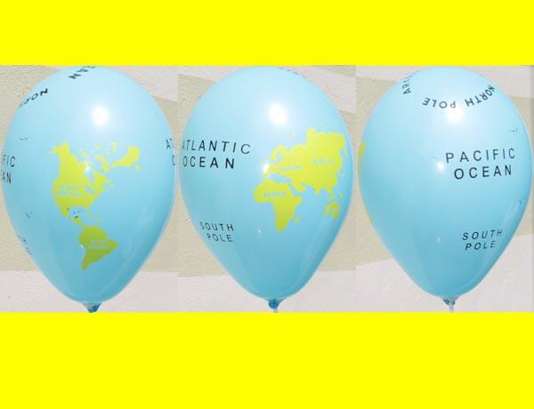 """12""""(30 см) № 09 голубаяя пастель  Рисунок шелкотрафарет Глобус  ц"""
