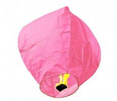 Небесный фонарик купол. Цвет: Розовый. Размер: 90 см.