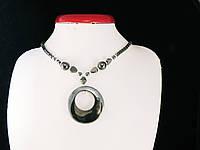 Бусы из гематита с кулоном круг, фото 1