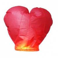 """Небесный фонарик """"Сердце"""".  Цвет: Красный. Размер: 90 см."""