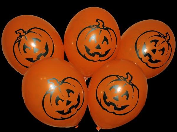 "12""(30 см) Гарбуз Хелловін помаранчева куля, 2 штампа"