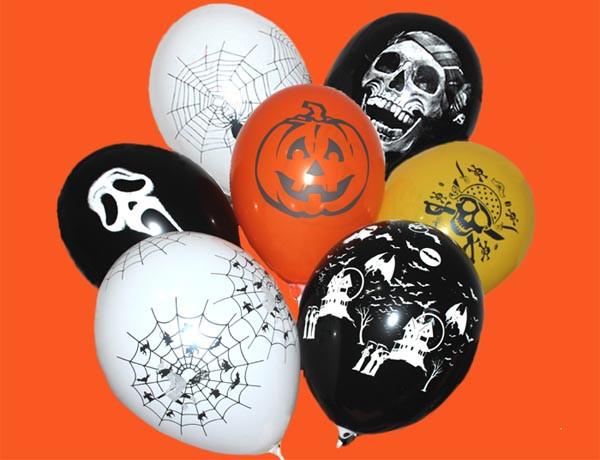 "12""(30 см) шары и рисунки ассорти  Хеллоуин тематика"