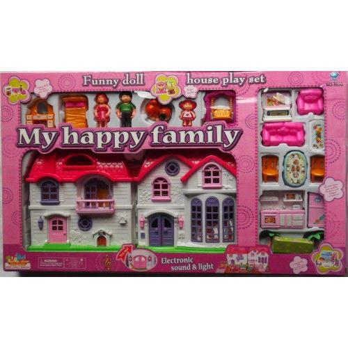Домик для кукол с мебелью Happy Family арт.8032