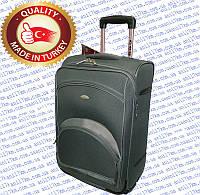 Средний турецкий чемодан на двух внутренних прорезиненных колёсах фирмы CCS