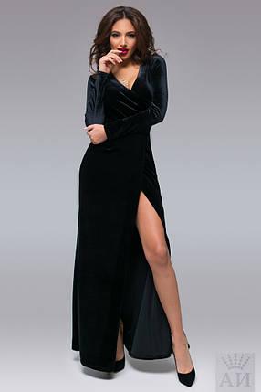 А145 Платье вечернее бархатное, фото 2
