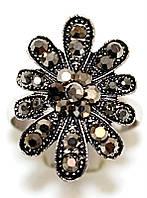 Кольцо под капельное серебро, безразмерное.Диаметр: 15 мм.