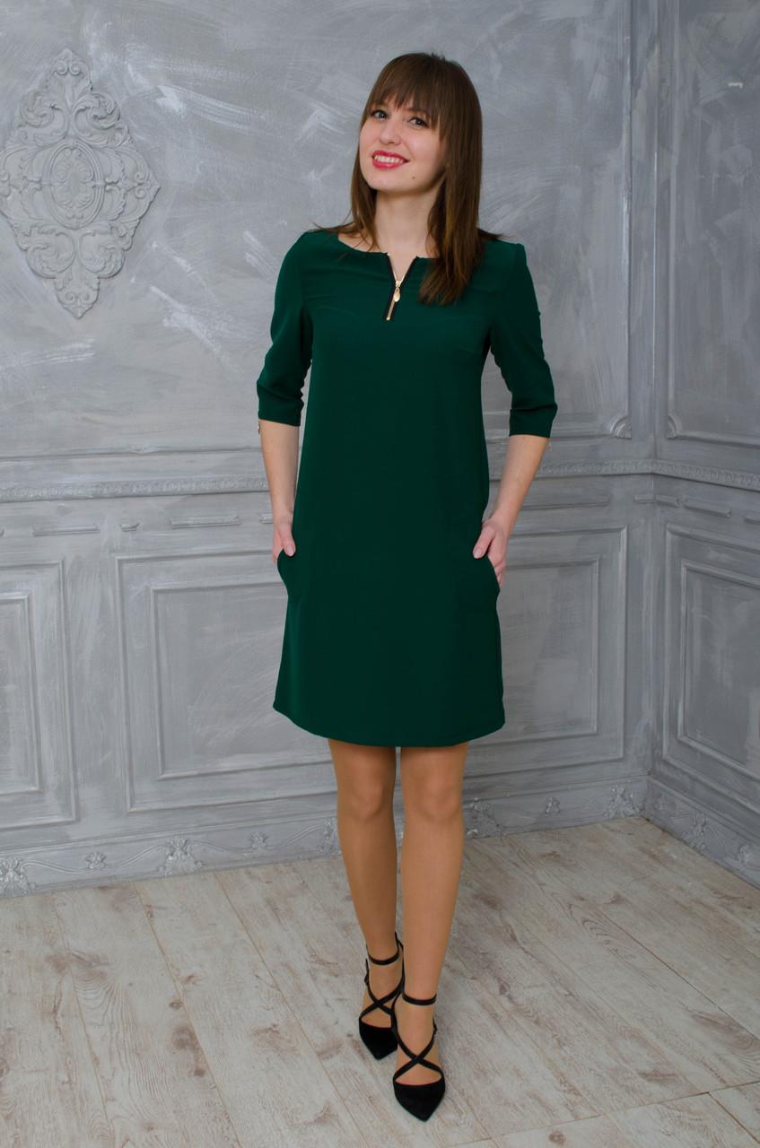 Зеленое платье с замками