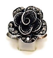 Кольцо под капельное серебро, безразмерное. Диаметр: 17 мм