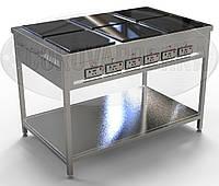 Электроплита Профессиональная (индукционная) - 12 кВт, 6 (шести) конфорочная, напольная