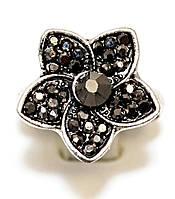 Кольцо под капельное серебро, безразмерное. Диаметр: 18 мм.