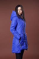 Зимняя женская молодежная куртка. Код К-81-36-17. Цвет ярко синий.