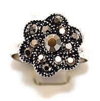 Кольцо под капельное серебро, безразмерное. Диаметр: 14 мм.