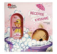 Подарочный набор Pink Elephant For Girls Веселое купание (пена для купания+мочалка)