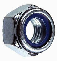 Гайка самоконтрящаяся с нейлоновым кольцом М8 DIN 985 (упаковка 100/500 шт.)