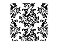 Салфетки черно-белый Дамаск 33 х 33 см 20 шт.