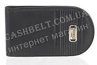 Прочный стильный кожаный мужской зажим на магните из мягкой кожи NINO CAMANI art. NC86-999A черный