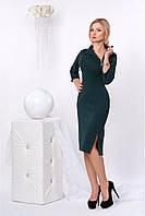Платье с воротником-стойкой декорированный молнией,