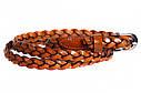 Женский узкий ремень из натуральной кожи кт6707 коричневый, фото 2