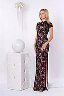 Ультра модное платье в пол с разпорихой на боку