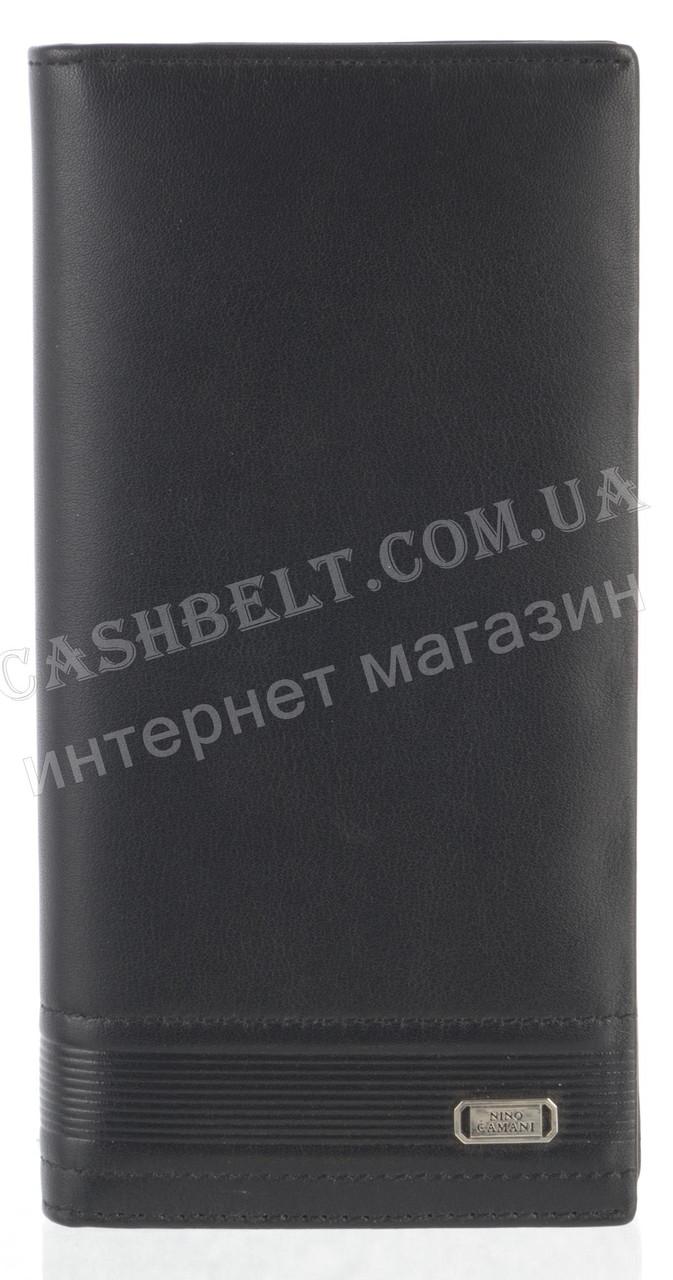 Прочное элитное стильное кожаное мужское портмоне-классика из мягкой кожи NINO CAMANI art. NC86-245A черный