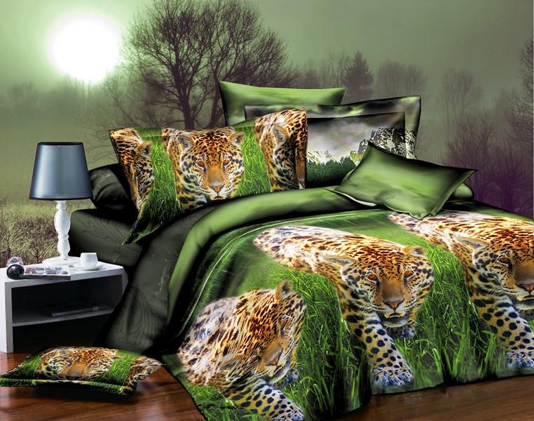 АКЦИЯ! Евро комплект постельного белья Леопард