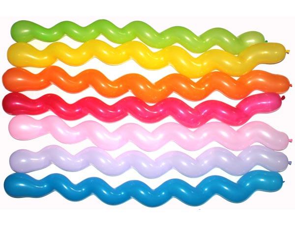 Шары латексные фигурные ассорти  Спираль БОЛЬШАЯ, Китай 125 см В упак:100 шт.